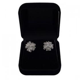 Sidabriniai auskarai gėlės žiedas ESA100 dėžutėje