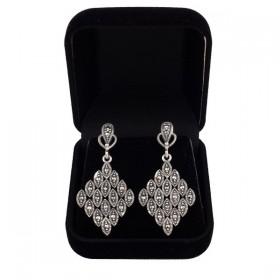 Prabangūs sidabriniai auskarai ESA101 dėžutėje