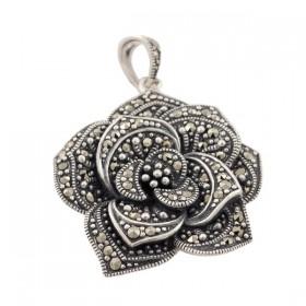 Sidabrinis pakabukas gėlės žiedas PSA106 priekiu