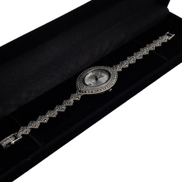 Stilingas sidabrinis laikrodis WSA111 dėžutėje kampu