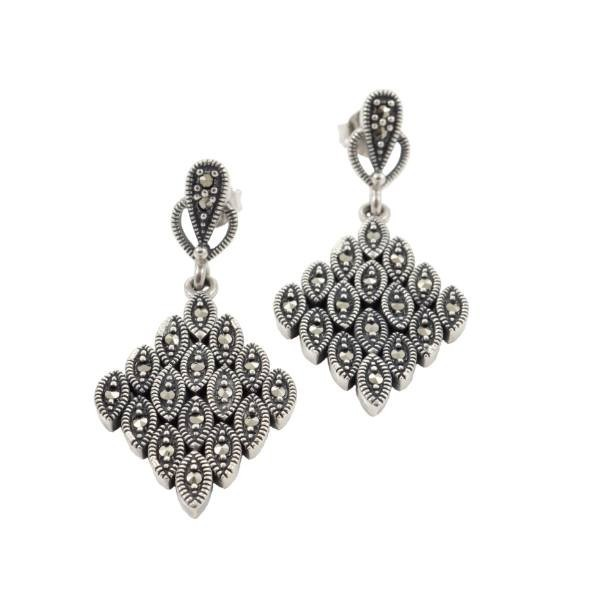 Prabangūs sidabriniai auskarai ESA101