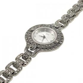 Sidabrinis laikrodis su markazitais WSA109
