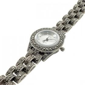 Sidabrinis laikrodis su markazitais WSA106