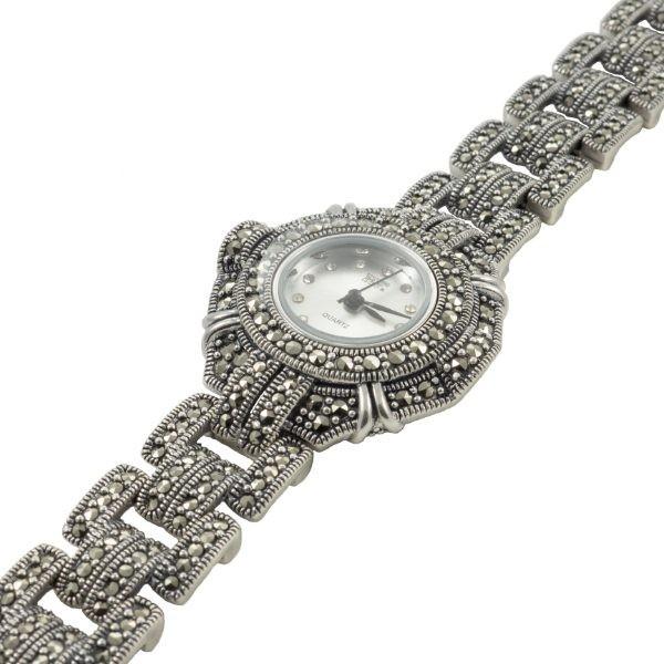 Sidabrinis laikrodis su markazitais WSA100